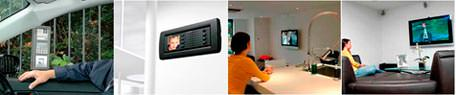 Home entertainment and integrated security system