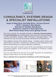 CAI Vision Specialist Installations brochure ( range)