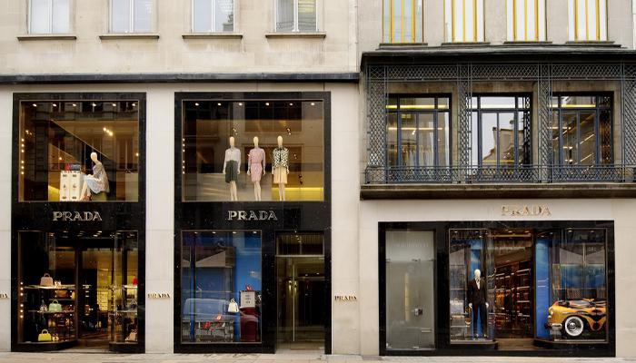 Prada store frontage
