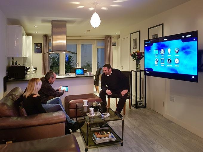 Home automation demo show home