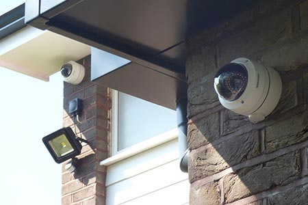 Security CCTV cameras & light